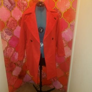 Neon Rose 🌹Red trench coat.